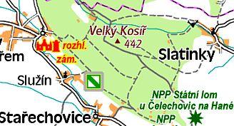 Situační mapka Kosíře